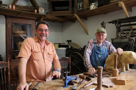 A father and son wood-carving duo. The dad has been carving since the fifties. Hope to interview them soon.