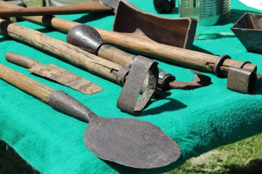 Tools used in processing pine sap to get rosin, tar, and turpentine. I suspect the Graham family brought this to the show.